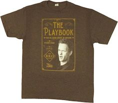 How I Met Your Mother t-shirt with Barney Stinson and his book cover from his book The Playbook.