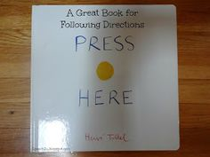Great book for following directions. Press here