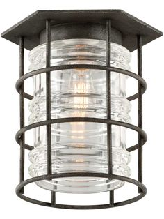 Brunswick Small Flush-Mount Ceiling Light | House of Antique Hardware