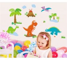 Dinosaurs wall sticker available at www.kidzdecor.co.za. Free postage throughout South Africa