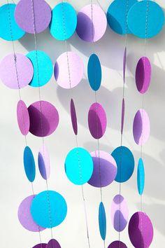 Mermaid party decoration  Purple lilac blue by TransparentEsDecor, $6.00