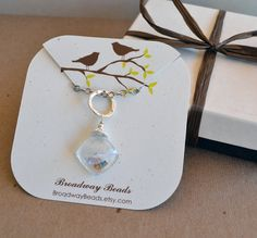Custom Necklace Cards Jewelry Display Packaging Bird Branch 00034a