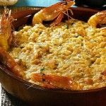 Açorda de camarão Portuguese Recipes, Portuguese Food, Quiche, My Best Recipe, Spanish Food, Fish And Seafood, Macaroni And Cheese, Good Food, Food And Drink