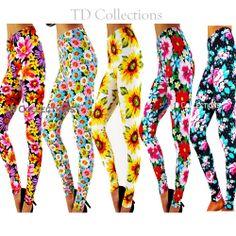 NEW SEXY BLOOM FLORAL FLOWER PRINT LEGGINGS Soft Popular Quality Pants Print Leggings, Tight Leggings, Color Patterns, Print Patterns, Floral Flowers, Flower Prints, Tights, Bloom, Popular