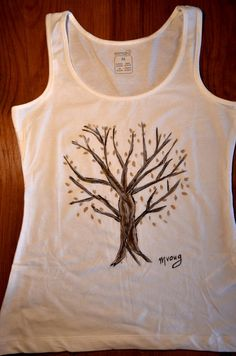 Hand painted t  shirtthe tree of Life by MrsDarksidesArtWork