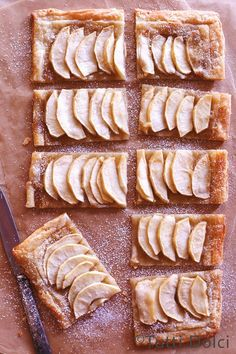 Maple Apple Tart - puff pastry, apples, sugar, butter, and maple syrup are all you need to make this easy and impressive fall dessert!