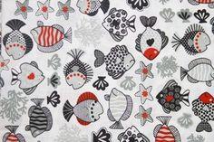 Tecido para Patchwork Peixes Pequeno (0,50m x 1,50m)