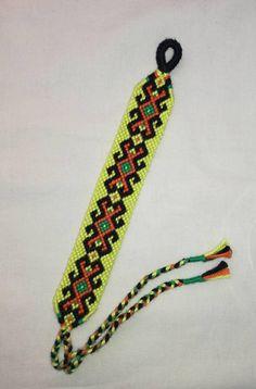 Bright yellow braided bracelet String custom wrist band