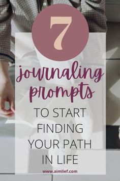 7 journaling promtps to gain clarity and improve your life. Guaranteed. journal writing prompts, journaling to achieve goals, journaling exercises