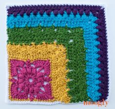 Block #20 in the Moogly 2015 Afghan CAL - French Corners!