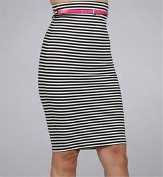 Stripe Pencil Skirt