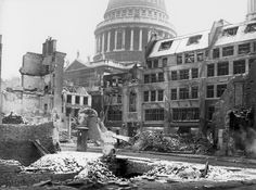 Arthur CrossFred Tibbs -- Bomb damage at Paternoster Square, London: 1940 -- High quality art prints, framed prints, canvases -- Museum of London Prints