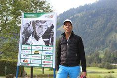 #ToniSailerGolfMemorial2016 Florian Sailer kurz vor dem Abschlag am Golfclub #Kitzbühel