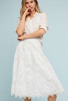 Something kind of sweetly romantic about the lace skirt Lace Skirt d146aa51ccf5