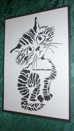 Силуэтное вырезание Исхаковой Анны (авторский альбом) – 266 photos | VK Cut Cat, Paper Cutting, Silhouette Cameo, Paper Art, Stencils, Moose Art, Quilts, Black And White, Pets