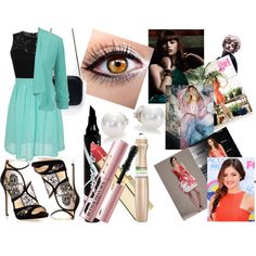 with girls by rebeccabeckybrooks on Polyvore featuring maurices, Jimmy Choo, Zara, Mikimoto, L'Oréal Paris, Too Faced Cosmetics, Maybelline, Krystal and Monique Lhuillier