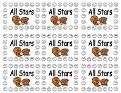All Star Sports Behavior Punch Cards - Perfect for any Sports Theme Classroom - Individual incentive cards will help with classroom management, pos...