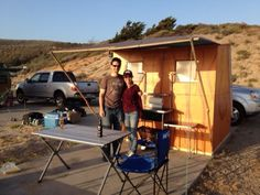 Folding Cabin at Jalama Beach, CA