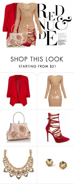 """""""#554"""" by joanaraquelgt ❤ liked on Polyvore featuring New Look, Balmain, Palm Beach Jewelry and Wolf & Moon"""