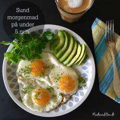 Travlt om morgenen? Se hvordan du laver lækker LCHF-morgenmad med spejlæg, avokado og kokoskaffe på under 5 minutter.