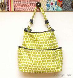 Make an easy tote purse #sewing #handbag