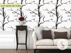 Awesome new tree pattern @ swagpaper.com, peel temporary wallpaper panels!