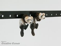 Ferret Two-Part Earrings Fake Gauges Gift by MariasCreativeCorner