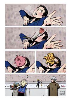 Read YURIO TSUNDERE from the story Imagenes de Yuri on ice -Yaoi,memes,etc- by SraYaoi with reads. Manga Anime, Film Anime, Art Manga, Me Anime, Anime Meme, Anime Comics, Manhwa, Yuri On Ice Comic, ユーリ!!! On Ice