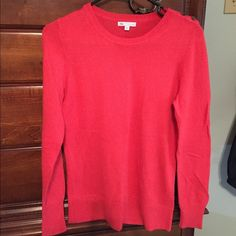 Salmon colored sweater Salmon colored sweater. Very soft. No snags or pilling.  Perfect condition. If your interested I'll lower to get you cheep shipping GAP Sweaters Crew & Scoop Necks