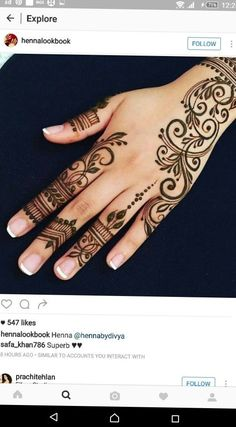 Advice About Hobbies That Will Help Anyone – Henna Tattoos Mehendi Mehndi Design Ideas and Tips Henna Tattoo Hand, Henna Tattoos, Henna Tattoo Muster, Henna Ink, Henna Body Art, Hand Mehndi, Sexy Tattoos, Tattoos For Guys, Tattoo Tree