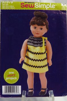 """Simplicity 1979 Dress for 18"""" Doll"""