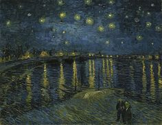 Vincent Van Gogh「Starry Night Over the Rhone」(1888)