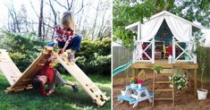 These Back Yard Ideas are full of fun and adventure - and most of them are easy weekend projects you can do with little skill.