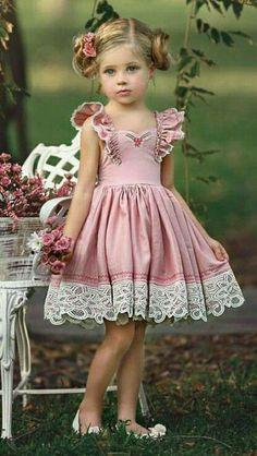 Pink Wedding---ideas for Wedding dresses, Bridesmaid Dress Baby Girl Dress Patterns, Little Girl Dresses, Girls Dresses, Flower Girl Dresses, Little Girl Fashion, Toddler Fashion, Kids Fashion, Toddler Dress, Baby Dress
