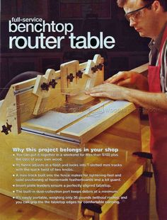 #2024 Benchtop Router Table Plans - Router