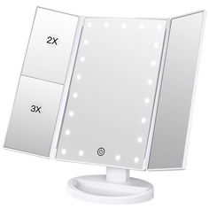 ***𝐧𝐞𝐰 𝐃𝐈𝐒𝐂𝐎𝐍𝐓 𝐂𝐎𝐃𝐄 / 𝐕𝐎𝐔𝐂𝐇𝐄𝐑 𝐚𝐝𝐝𝐞𝐝*** BESTOPE Lighted Makeup Mirror Magnification Vanity Mirror Tri-fold Make up Mirror Table Mirror with 21 LED Lights Touch Sensor Switch Makeup Vanity Mirror, Makeup Mirror With Lights, Jewelry Display Box, Islamic Wall Art, Amazon Beauty Products, Skin Care Tools, Diy Beauty, Beauty Tips, Clear Acrylic