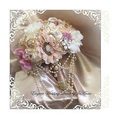RUSTIC BROOCH BOUQUET Vintage Style Brooch by Elegantweddingdecor