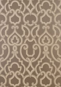 Thibaut's Royal Wallpaper in metallic pewter from the Artisan collection, offers this wonderful Wall Covering. A beautiful pattern in most any room...