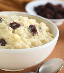 Rice Pudding With Raisins - a great anytime slow cooker dessert recipe. Just like mom made!