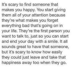 It is incredibly scary... But when you find the one, it's all worth it
