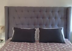 My ultimate DIY project. King size tufted wingback headboard! Using scrap wood and fabric I had on hand, total cost is under $40! After buying all the furniture nails in town (a few hundred) I ran out so the trim is the last thing to finish, but it's basically done and I love it. It makes you feel so snug and ensconced =]