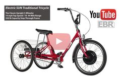 Resultado de imagen para tricycle one wheel drive Electric Tricycle, Electric Cars, Adult Tricycle, Custom Trikes, Quad Bike, Bicycle, Traditional, Vehicles, Mopeds