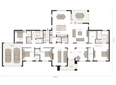 Colorado - Designed for Australian modern acerage living Home Design Floor Plans, House Floor Plans, Modern Ranch, Colorado Homes, Plantation Homes, Courtyard House, New Home Designs, Home Collections, Home Projects
