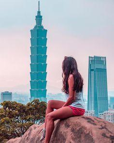 Views from Elephant Mountain in Taipei