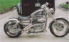 Harley Davidson Sportster. My favorite color is Chrome!