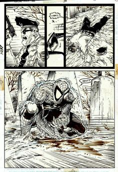 Original page by Todd McFarlane from The Amazing Spider-Man published by Marvel, April Comic Book Artists, Comic Artist, Comic Books Art, Spiderman Art, Amazing Spiderman, Black Spiderman, Todd Mcfarlane Spiderman, Marvel Art, Marvel Comics