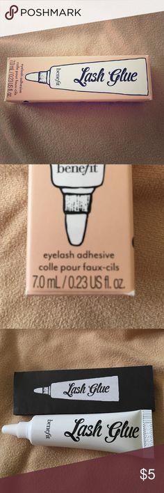 Benefit lash glue ✨ Brand new! Opened to check product but never used on eye lashes. Price reduced because I opened it. :) Benefit Makeup False Eyelashes