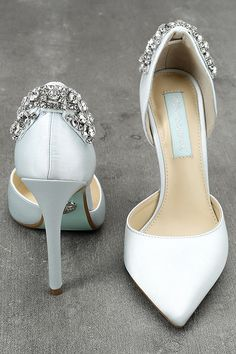 d515a18f0ce Blue by Betsey Johnson Rosie Blue Satin Pumps 2 Betsey Johnson Wedding Shoes