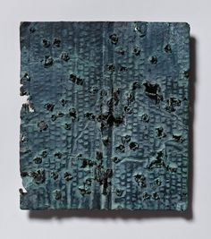 Ricky Swallow Plate 37 (Blue) Patinated bronze, 2011