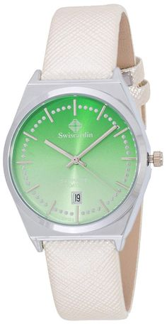 Swiscardin Unisex Green Dial Leather Band Watch - 11479Mw-G price, review and buy in UAE, Dubai, Abu Dhabi | Souq.com